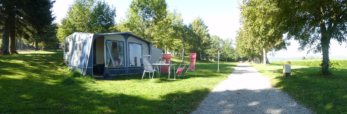 rent a caravan on a small family camp-site
